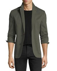 1 Like No Other Garment Washed Two Button Blazer Green