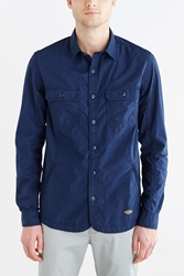Cpo Curved Hem Shirt Jacket Navy