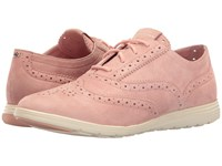 Cole Haan Grand Tour Oxford Silver Pink Suede Ivory Women's Lace Up Casual Shoes Pewter