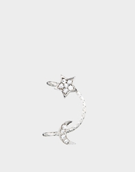 Asos Limited Edition Single Moon Star Ear Cuff Crystal