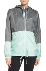 Columbia Women's Flash Forward Tm Windbreaker Jacket Sedona Sage Sea Ice White