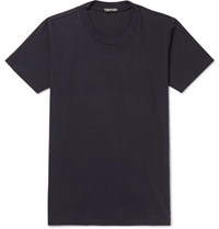 Tom Ford Slim Fit Cotton Jersey T Shirt Navy