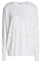 Alexander Wang Distressed Terry Sweatshirt White