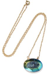 Dara Ettinger Gold Plated Stone Necklace One Size