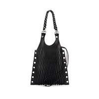 Sonia Rykiel Le Baltard Medium Leather Tote Bag Black