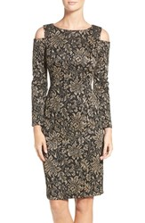 Eliza J Women's Metallic Knit Sheath Dress