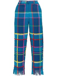 All Things Mochi Vivienne Check Trousers Blue