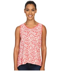 Woolrich Elemental Printed Tank Hot Guava Women's Sleeveless Red