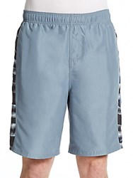 Nike Tie Dye Trim Volley Shorts Blue Graphite
