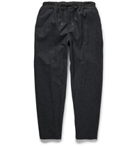 Casely Hayford Hungerford Faille Trimmed Wool Blend Tweed Trousers Black