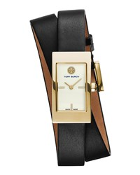 Buddy Signature Double Wrap Watch Black Tory Burch Watches