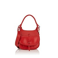 Fontana Milano 1915 Chelsea Small Leather Saddle Bag Red