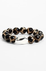 Simon Sebbag Stretch Bracelet Nordstrom Exclusive Silver Tortoise Agate