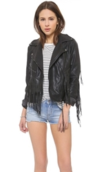 Blank Vegan Leather Fringe Jacket Let It Ride
