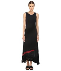 Yohji Yamamoto W Knit Long Dress Black Scarlet Women's Dress