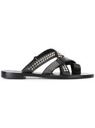 Dsquared2 Studded Strappy Sandals Women Calf Leather Leather 36 Black