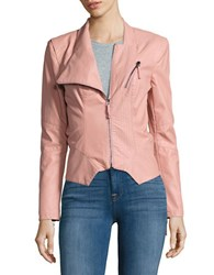 Blank Nyc Zip Front Faux Leather Moto Jacket Gum Drop Pink