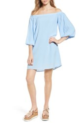Soprano Women's Bell Sleeve Off The Shoulder Dress Sky