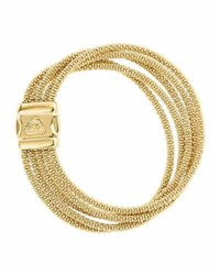 Lagos Medium Five Row 18K Gold Caviar Rope Bracelet