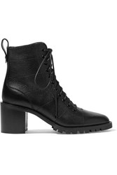 Jimmy Choo Cruz 65 Textured Leather Ankle Boots Black