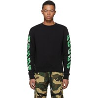 Off White Ssense Exclusive Black 3D Diagonal Sweatshirt