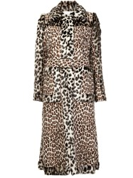 Stella Mccartney Panelled Faux Fur Coat Nude And Neutrals