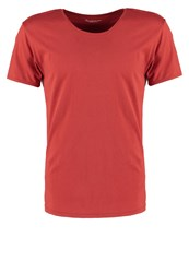 Knowledge Cotton Apparel Basic Fit Basic Tshirt Bossa Nova Red