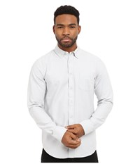 Obey Dissent Trait Long Sleeve Woven Top Light Grey Men's Long Sleeve Button Up Gray