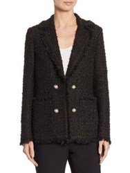 Edward Achour Tweed Fringe Jacket Black