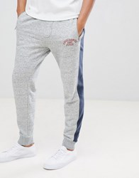 Abercrombie And Fitch Americana Joggers With Side Tapping In Grey