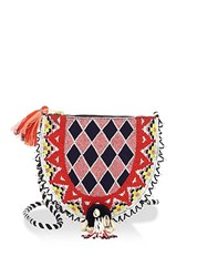 Figue Diamond Luna Beaded Pouch Multi