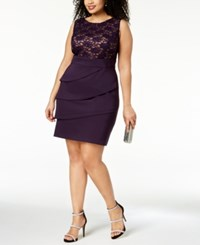 Connected Plus Size Tiered Sequined Sheath Dress Dag