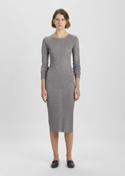 Organic By John Patrick Metallic Rib Dress Silver