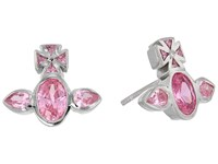 Vivienne Westwood Carmella Earrings Pink Cubic Zirconia