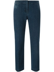 Michael Michael Kors Cropped Flared Jeans Blue