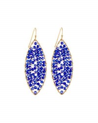 Panacea Beaded Marquise Drop Earrings Navy