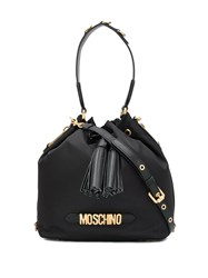 Moschino Tassel Detailed Satchel Black