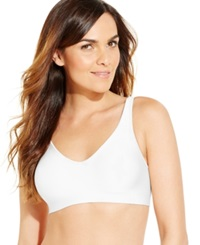 Hanes Platinum Smooth Inside And Out Wireless Bra Hp04 White