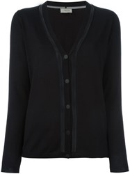 Lanvin Transparent Panel Cardigan Black