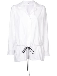 Peter Cohen Drawstring Waistband Shirt White