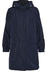 Iris And Ink Mable Shell Hooded Coat Navy