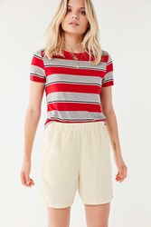 Urban Outfitters Uo Paxton Long Line Short Cream