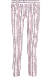 Etoile Isabel Marant Cooper Printed Low Rise Skinny Jeans Fuchsia