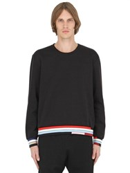Christopher Kane Color Block Cotton Jacquard Sweatshirt