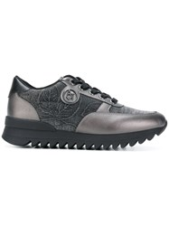 Armani Jeans Lace Up Sneakers Black