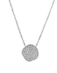 Morris And David Diamond 14K White Gold Medallion Pendant Necklace