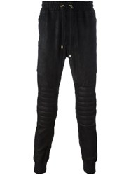 Balmain Ribbed Detail Track Pants Black