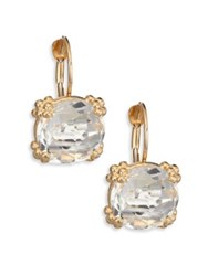 Anzie Dew Drop Cluster White Topaz And 14K Yellow Gold Drop Earrings