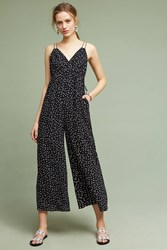 Anthropologie Finley Wide Leg Jumpsuit Black White