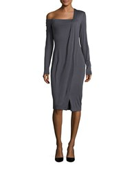Bailey 44 One Shoulder Jersey Knit Dress Slate Grey